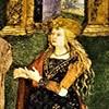 Alleged portrait of Lucretia Borgia, fragment, frescos by Pinturicchio, Borgia Apartments, Apostolic Palace