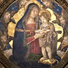Madonna and Child with Angels, Pinturicchio, Borgia Apartments, Apostolic Palace