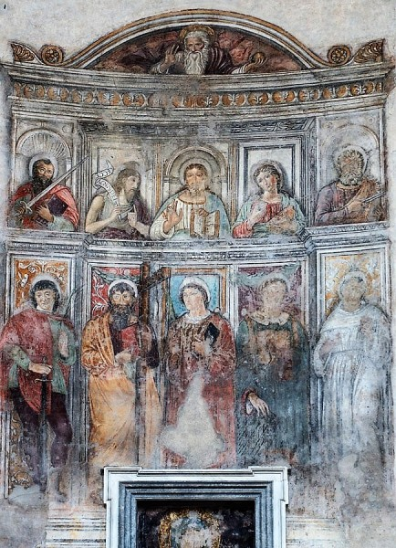 Frescos in the apse of the temple of Hercules (the former Church of San Stefano)