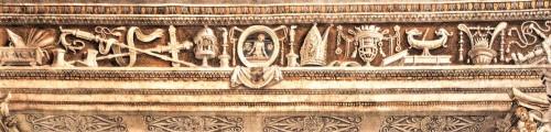 Carafa Chapel, decorative frieze, workshop of Filippino Lippi, Basilica of Santa Maria sopra Minerva