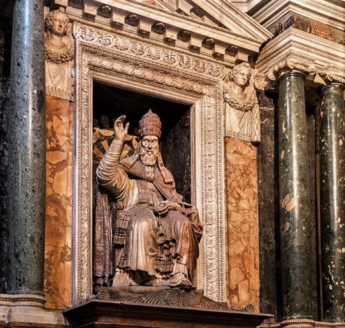 Kaplica Carafy, pomnik nagrobny papieża Pawła IV z rodu Carafa, bazylika Santa Maria sopra Minerva