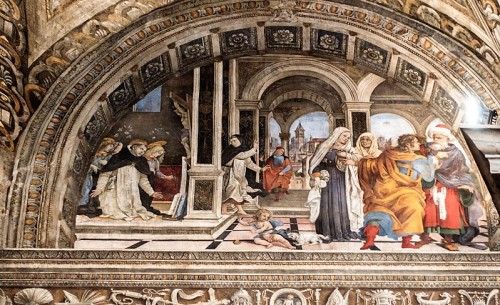 Carafa Chapel, scenes from the life of St. Thomas Aquinas, Basilica of Santa Maria sopra Minerva
