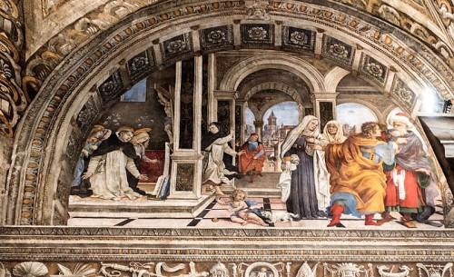 Kaplica Carafy, sceny z życia św. Tomasza z Akwinu, Filippino Lippi, bazylika Santa Maria sopra Minerva