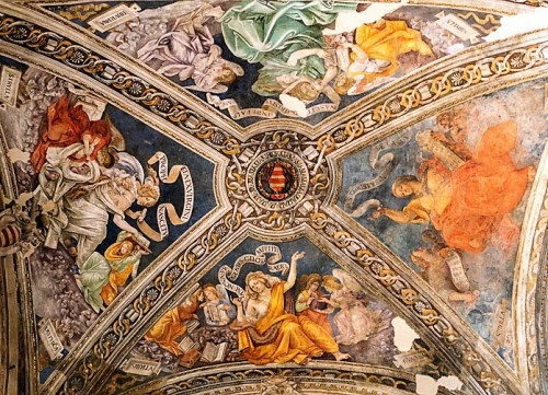 Kaplica Carafy, sybille na sklepieniu kaplicy, Filippino Lippi i warsztat, bazylika Santa Maria sopra Minerva