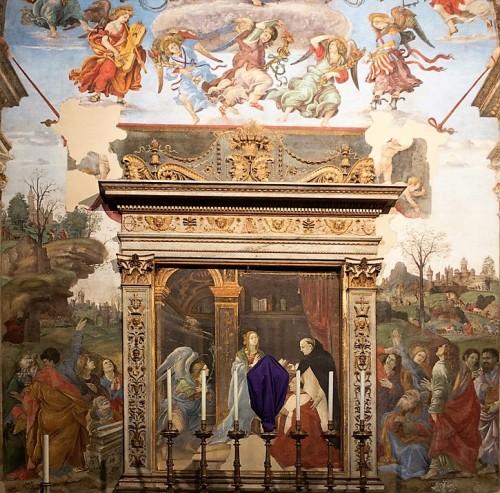 Kaplica Carafy, Zwiastowanie i Wniebowzięcie Marii, Filippino Lippi, bazylika Santa Maria sopra Minerva