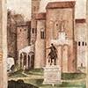 Kaplica Carafy, pomnik Marka Aureliusza na dziedzińcu pałacu biskupiego na Lateranie (detal), Filippino Lippi, bazylika Santa Maria sopra Minerva