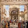 Carafa Chapel, side wall – The Glory of St. Thomas Aquinas, Filippino Lippi, Basilica of Santa Maria sopra Minerva