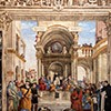 Kaplica Carafy, ściana boczna - Gloria św. Tomasza z Akwinu, Filippino Lippi, bazylika Santa Maria sopra Minerva