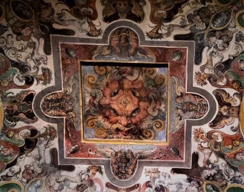 Casino Ludovisi, dekoracja stropu sieni prowadzącej do centralnej sali budynku, fragment