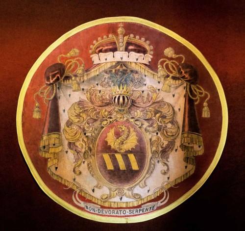 Casino Ludovisi, herb rodu Boncompagni-Ludovisi, sień pałacyku