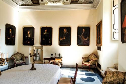 Casino Ludovisi, jadalnia z rokokowymi dekoracjami stropu