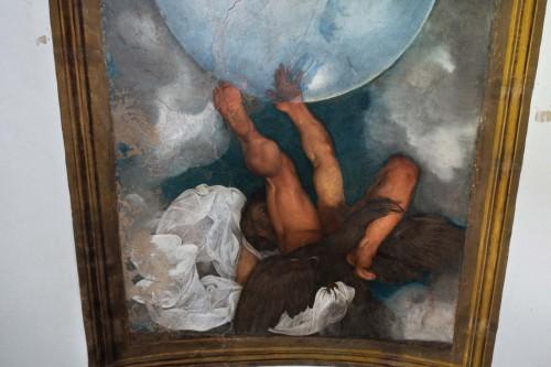 Casino Ludovisi, malowidło Caravaggia, wizerunek Jowisza, fragment