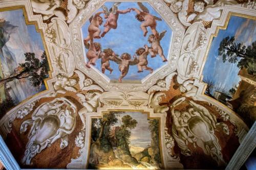 Casino Ludovisi, sala kominkowa (Stanza del Caminetto), malowidło stropu, XVII w.