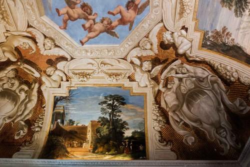 Casino Ludovisi, Stanza del Caminetto, Guercino, malowidło stropu