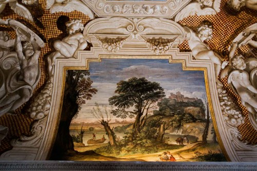Casino Ludovisi, Stanza del Caminetto, malowidło stropu, Domenichino, fragment