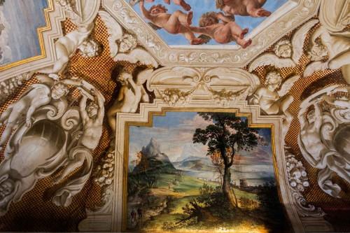 Casino Ludovisi, Stanza del Caminetto, malowidło stropu, Giovanni B. Viola