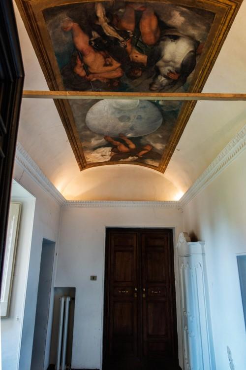 Casino Ludovisi, wnętrze ówczesnego gabinetu alchemicznego kardynała del Monte