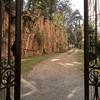 Casino Ludovisi, brama prowadząca do pałacyku od strony via Lombardia