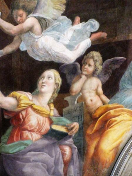 Domniemany portret Imperii, Rafael, kaplica Chigi, kościół Santa Maria della Pace