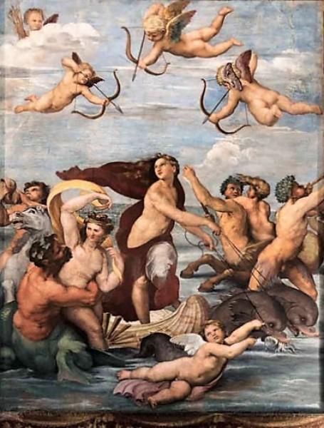 Imperia jako Galatea, Rafael, willa Farnesina