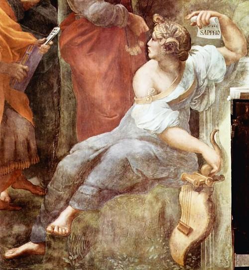 Imperia jako Safona, Stanze Rafaela, pałac Apostolski, zdj. WIKIPEDIA