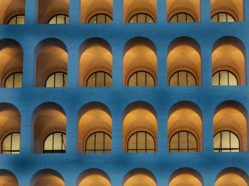 Square Colosseum in the Esposizione Universale Roma (also known as EUR)