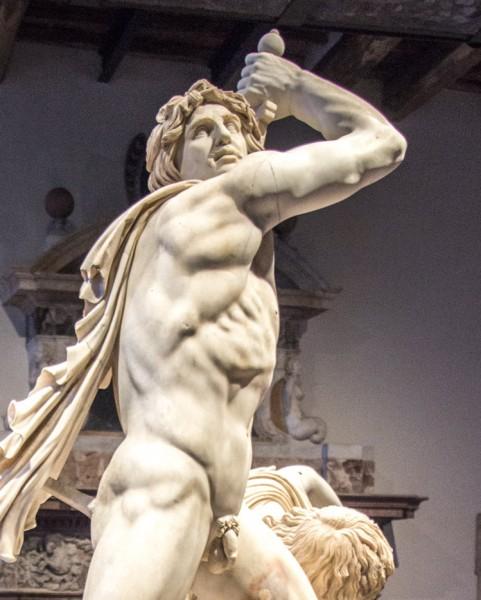 Gal zabijający żonę, Museo Nazionale, fragment, Palazzo Altemps