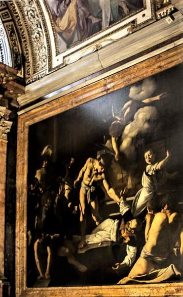 Caravaggio, The Martyrdom of St. Matthew, Contarelii Chapel in the Church of San Luigi dei Francesi