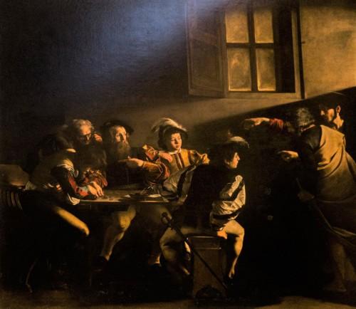 Caravaggio, The Calling of St. Matthew, Contarelii Chapel in the Church of San Luigi dei Francesi