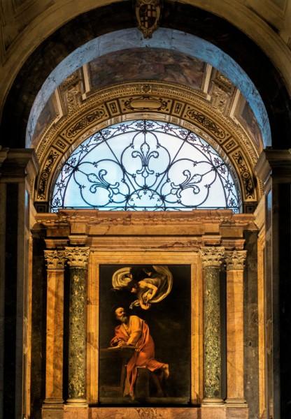 Caravaggio, Św. Mateusz Ewangelista, kaplica Contarellich, kościół San Luigi dei Francesi