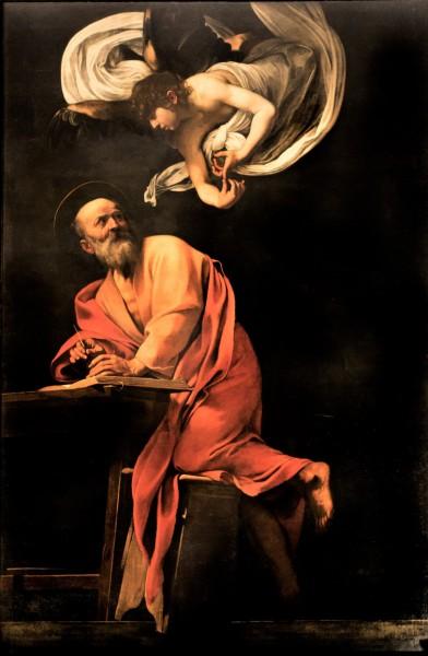 Caravaggio, Św. Mateusz Ewangelista, kościół San Luigi dei Francesi