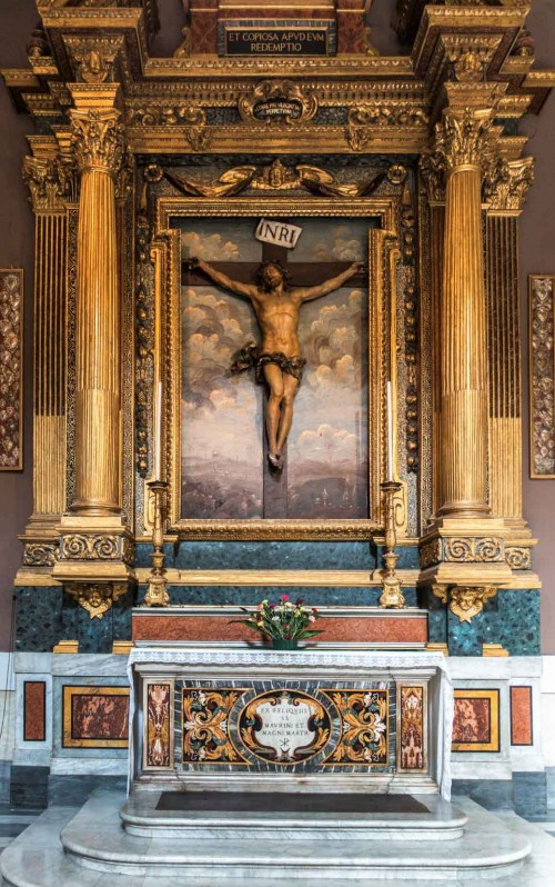 Francesco Cavallini, Chrystus ukrzyżowany, bazylika San Carlo al Corso