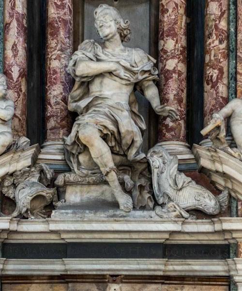 Francesco Cavallini, nagrobek Mario Bolognettiego, kościół Santissimi nomi Gesù e Maria