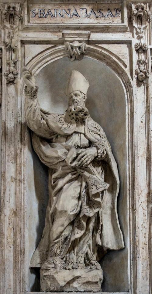 Francesco Cavallini, posąg św. Barnaby w obejściu kościoła San Carlo al Corso