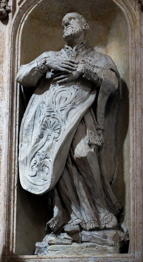 Francesco Cavallini, posąg św. Filipa Nereusza, kościół San Carlo al Corso