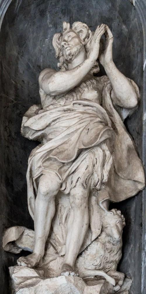Francesco Cavallini, posąg św. Jana Chrzciciela, bazylika San Carlo al Corso