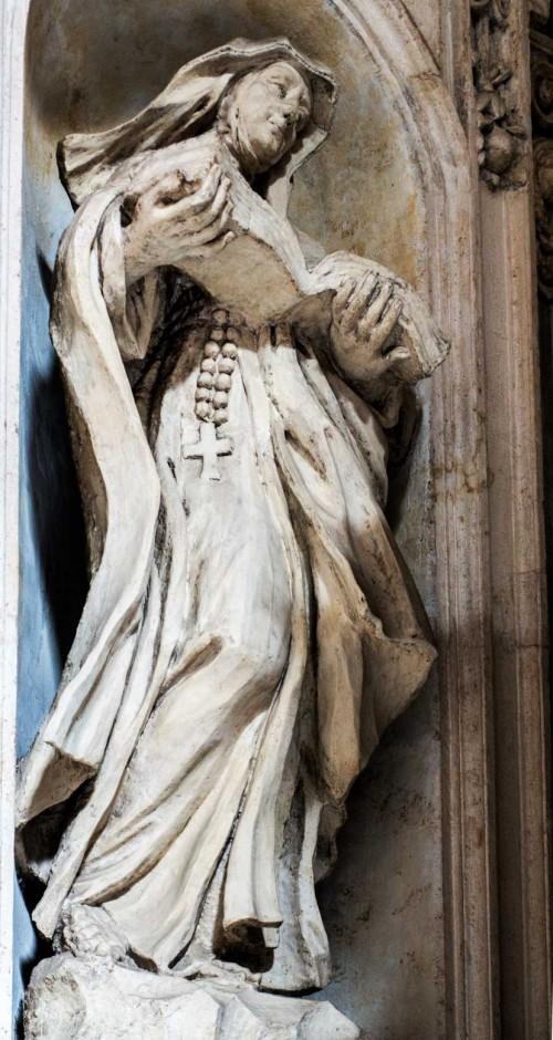 Francesco Cavallini, posąg św. Marceliny w obejściu kościoła San Carlo al Corso