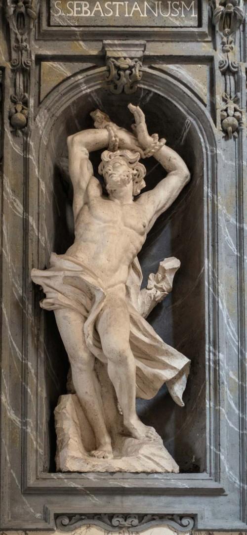 Francesco Cavallini, posąg św. Sebastiana, bazylika San Carlo al Corso