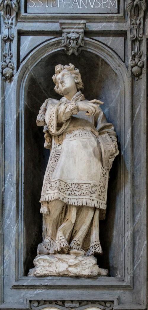 Francesco Cavallini, posąg św. Szczepana w obejściu kościoła San Carlo al Corso
