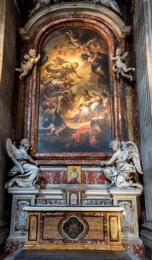 Kaplica św. Anny, Anioły m.in. Francesco Cavalliniego, kościół Santa Maria in Campitelli