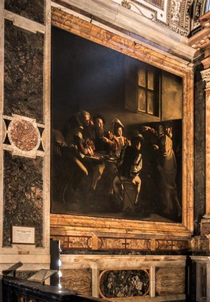 Kaplica Contarellich, Powołanie św. Mateusza, Caravaggio, kościół San Luigi dei Francesi