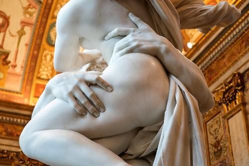 The Rape of Proserpina, Gian Lorenzo Bernini, fragment, Galleria Borghese