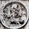 Łuk triumfalny cesarza Konstantyna Wielkiego, jeden z medalionów ukazujący polowanie cesarza Hadriana