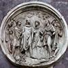 Łuk triumfalny cesarza Konstantyna Wielkiego, jeden z medalionów ukazujący polowanie cesarza Hadriana w towarzystwie Antinousa