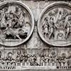 Łuk triumfalny cesarza Konstantyna Wielkiego, medaliony ukazujące cesarza Hadriana i fryz ze zwycięskim Konstantynem w Rzymie