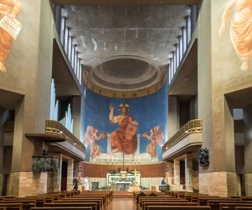Church of Sacro Cuore di Cristo Re, view of the church apse, Marcello Piacentini