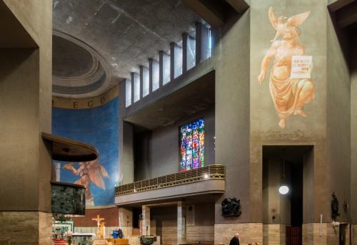 San Cuore di Cristo Re, wnętrze, Marcello Piacentini