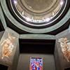 San Cuore di Cristo Re, Marcello Piacentini, filary podtrzymujące kopułę kościoła