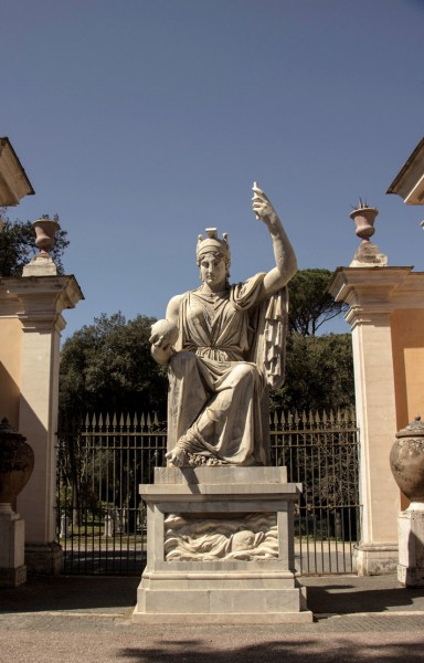Dea Roma (bogini - opiekunka miasta) w ogrodzie willi Medici