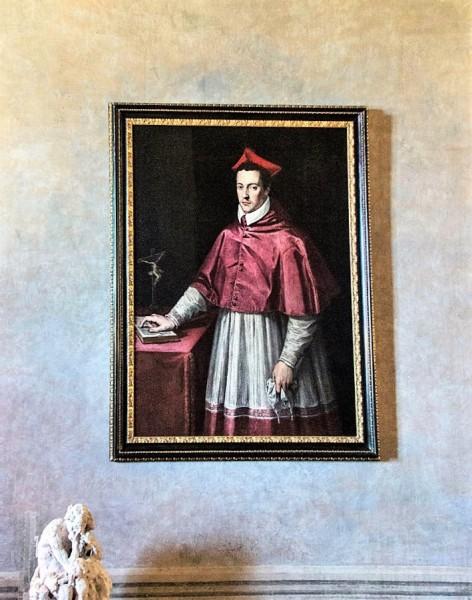 Willa Medici, casino, portret kardynała Ferdinanda da Medici